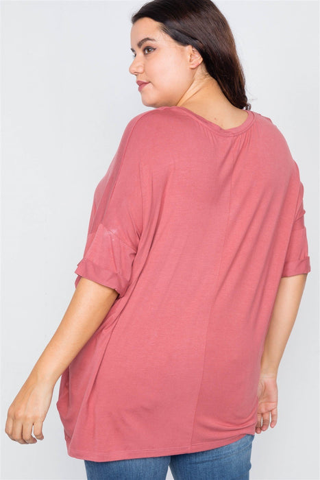 Short Sleeve Drop-shoulder Top