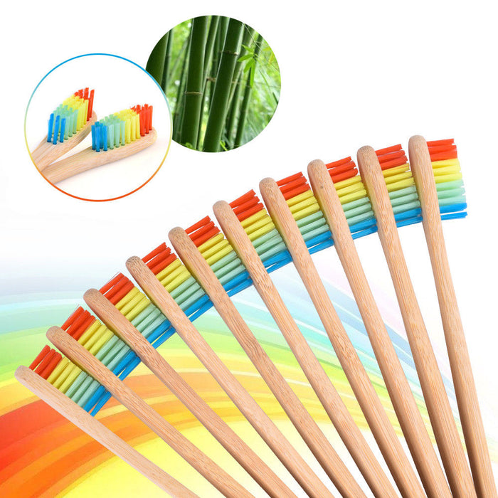 Colorful Natural Bamboo Toothbrush Eco Friendly Women Men Whitening Toothbrush Oral Care Tongue Cleaner Soft Bristle Teeth Brush LootDash
