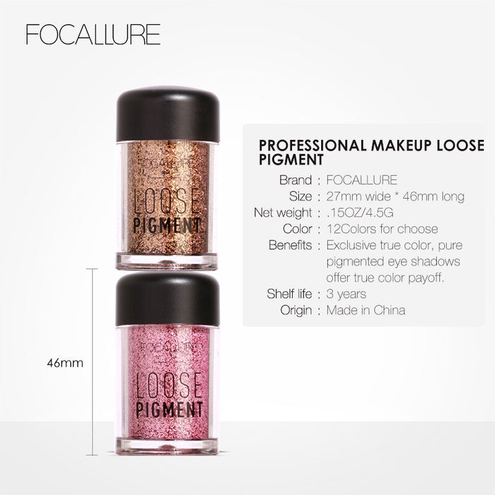 FOCALLURE 18 colors Glitter Green Eyeshadow Makeup Shimmer Pigment waterproof long lasting Cosmetics Powder Single Colors