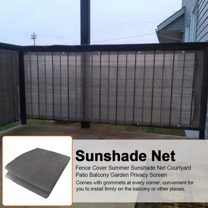 Fence Cover Sunshade Net With Ties Decoration Accessory Balcony Garden Shelter Privacy Screen LootDash
