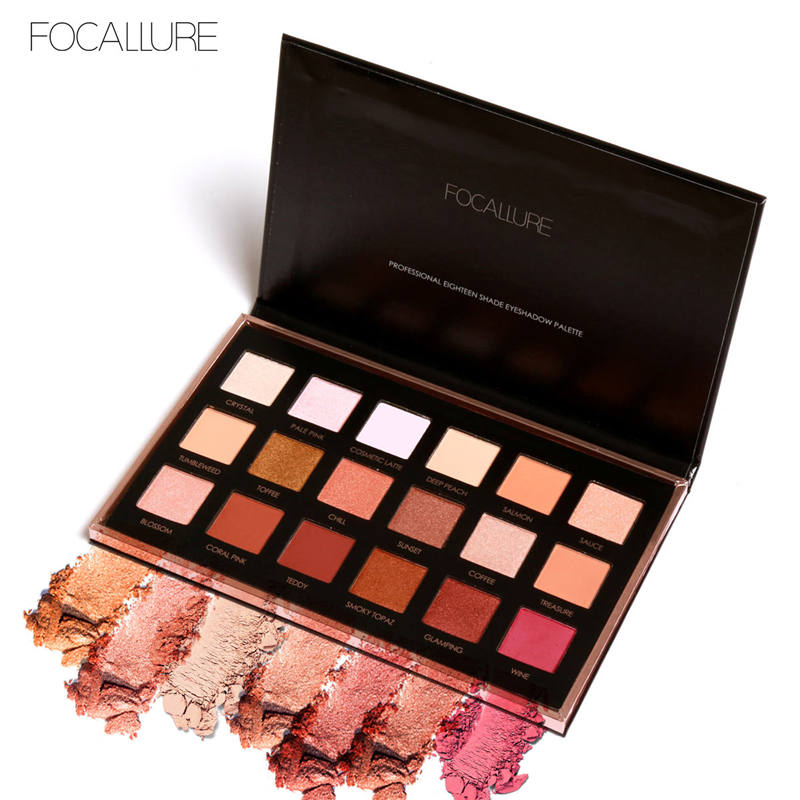 Focallure Eyeshadow Palette 18 Colors Make Up Maquiagem Tool Shimmer Cosmetics Eye Shadow Long Last Glitter Eyeshadows Pallete