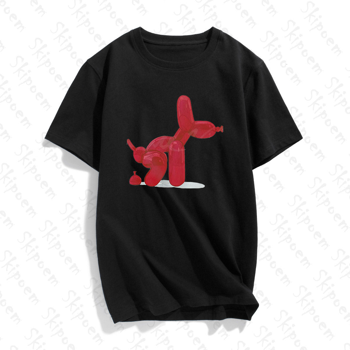 Funny Balloon Dog Tumblr Korean Style Kawaii Punk Harajuku Cotton Short Sleeve - Lootdash