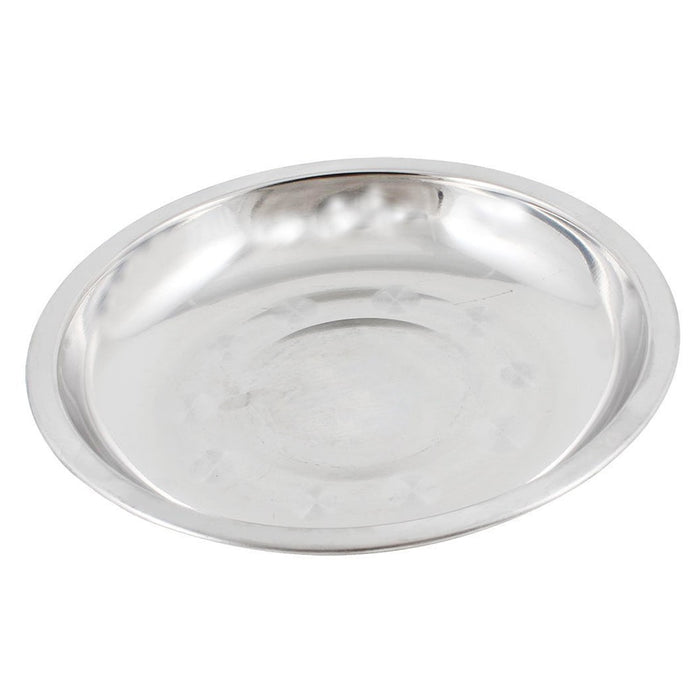 Good Quality 16 28cm Dia Stainless Steel Dinner Plate Tableware Food Container Salad Dessert Fruit Services Dish Tray|Dishes & Plates