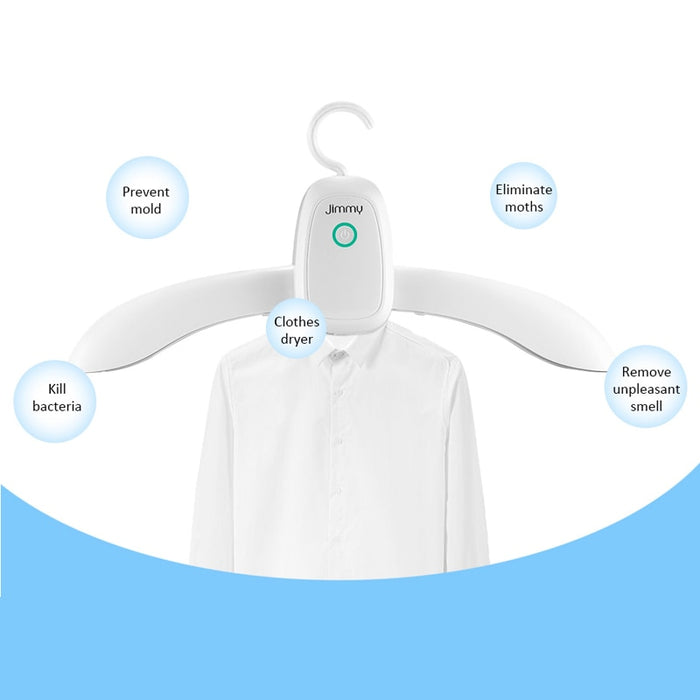 JIMMY GY101 Portable Electric Clothes Dryer Folding Hanger Less Noise With Ceramic Heating Element Hot Nature Wind Energy Saving on LootDash