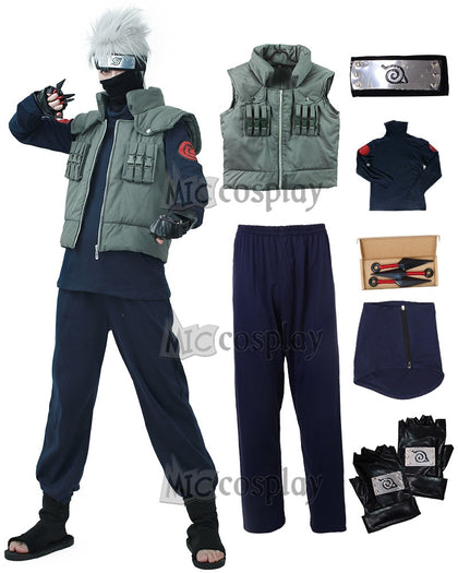 Cosplay Costume Hatake Kakashi Ninja Vest Headband Mask and accessories Carnival Outfit