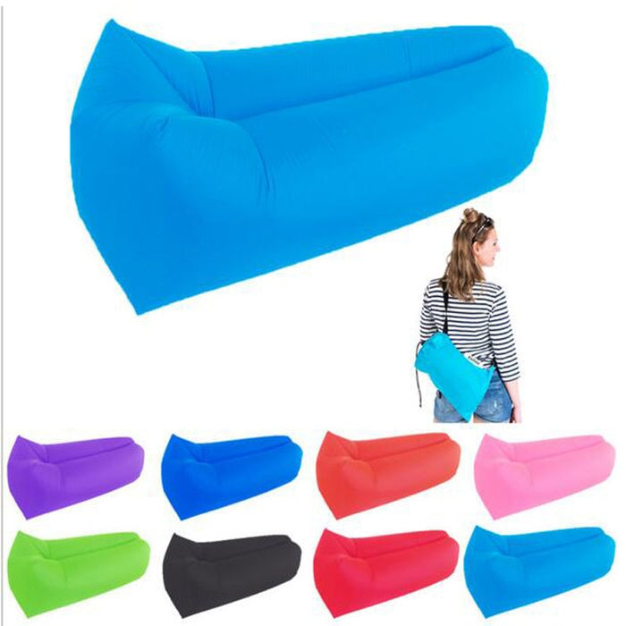 Light sleeping bag Waterproof Inflatable bag lazy sofa camping Sleeping bags air bed Adult Beach Lounge Chair LootDash