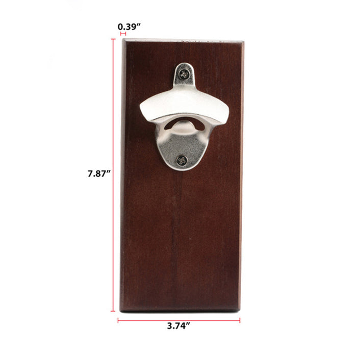 Magnetic High grade Wooden Vintage Bottle Opener Solid Wood Bar KTV Hotels Wine Opener|Openers|