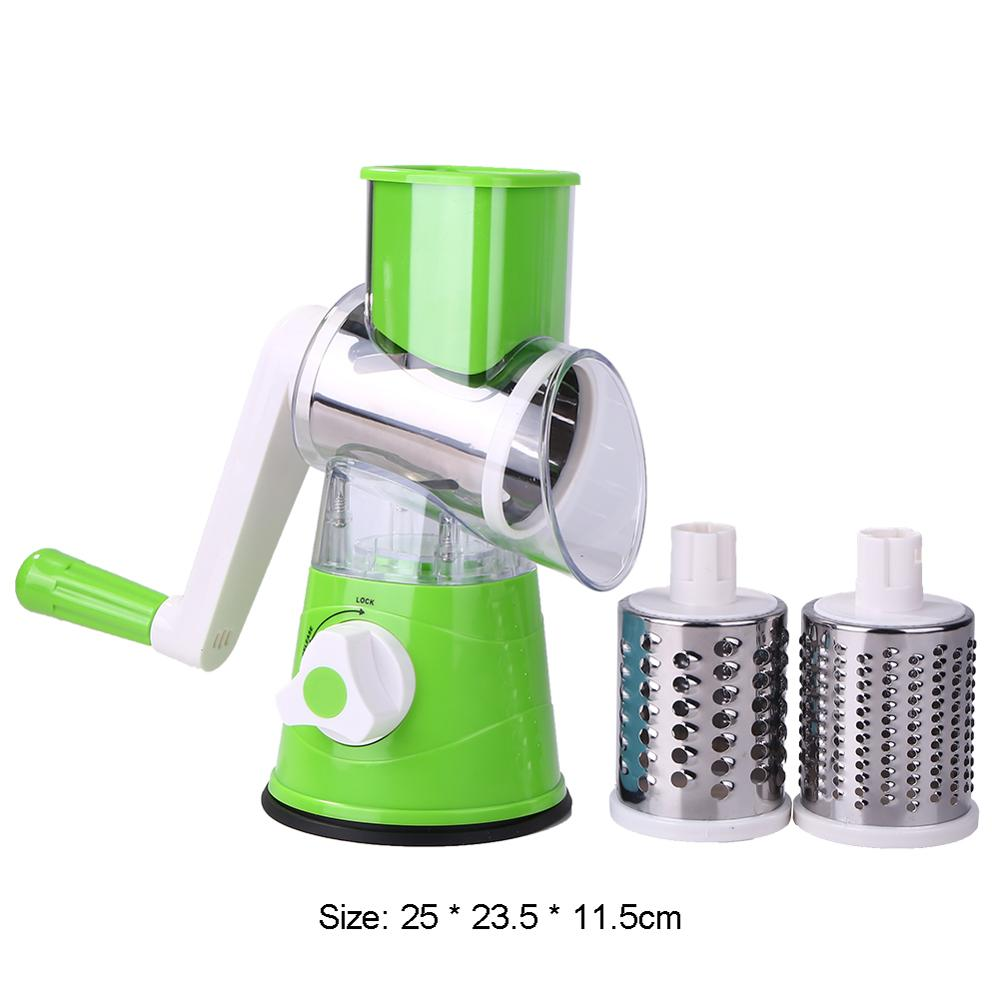 Manual Vegetable Cutter Slicer Multifunctional Round Mandoline Slicer Potato Cheese Kitchen Gadgets Kitchen Accessories Cooking on LootDash