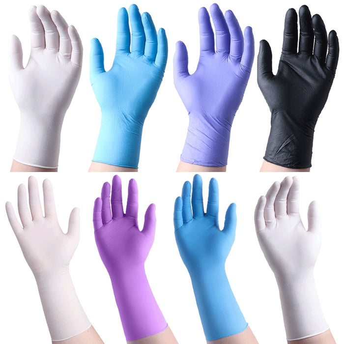 Manufacturers Direct Selling Disposable Nitrile Gloves 100 Pieces Food Protection gloves LootDash