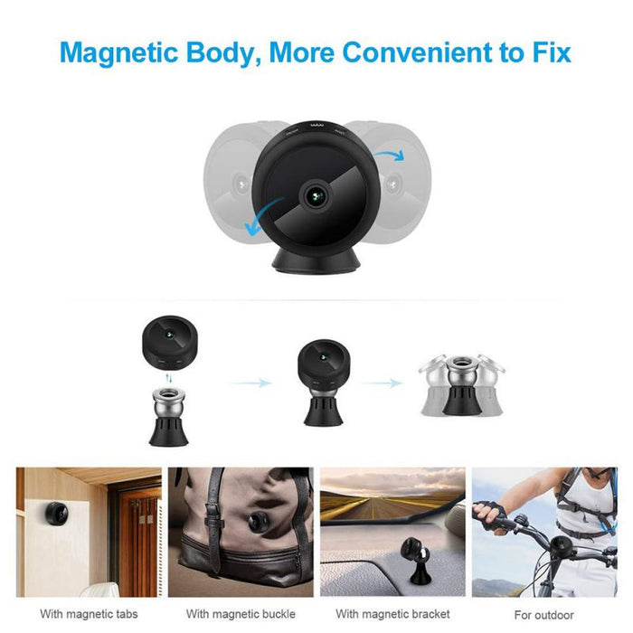 Mini Camera 1080P HD Night Vision WiFi Remote Control Suction Video Recorder Sports DV Camera Mini Home Security Camcorders on AliExpres