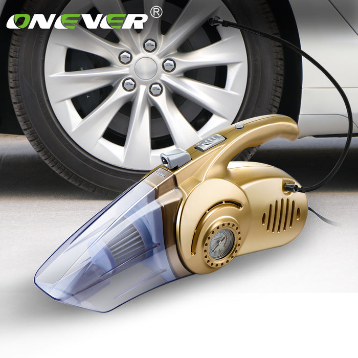 Multi Function 4 In 1 150PSI Wet Dry Car Vacuum Cleaner Portable Air Compressor Tire Inflator With LED Light 12V 120W High Power