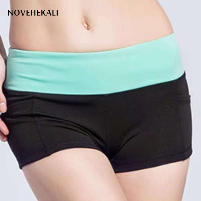 Women shorts Summer Women's fitness shorts Casual Quick drying Elasticity slimming shorts- Lootdash