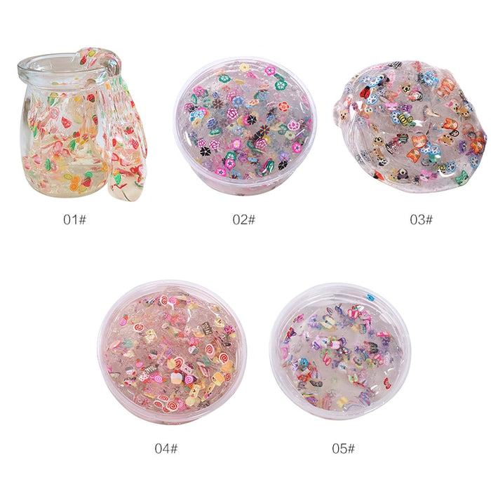 New Creative Clear Crystal Fruit Plasticine Clay Jelly Slime Mud Kid Intelligent Toys Drop Shipping|Modeling Clay| |  LootDash