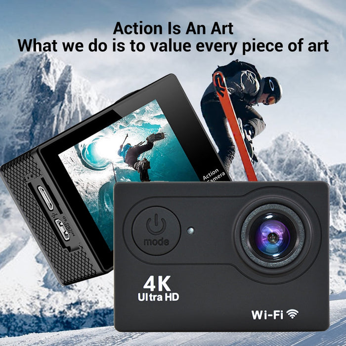 "Original H9 Action Camera Ultra HD 4K / 30fps WiFi 2.0"" 170D Underwater Waterproof Video Recording Cameras Sport Cam"