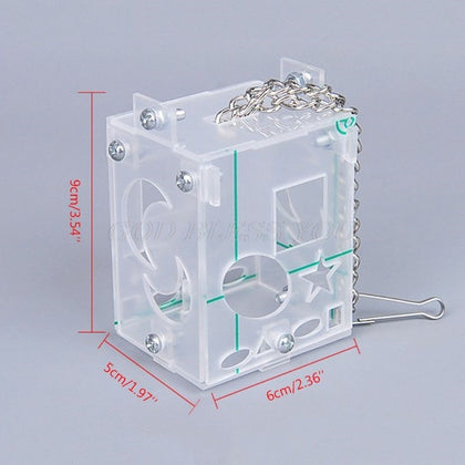 Creative Foraging Toy Feeder Intelligence Training Cage Acrylic Box - LootDash