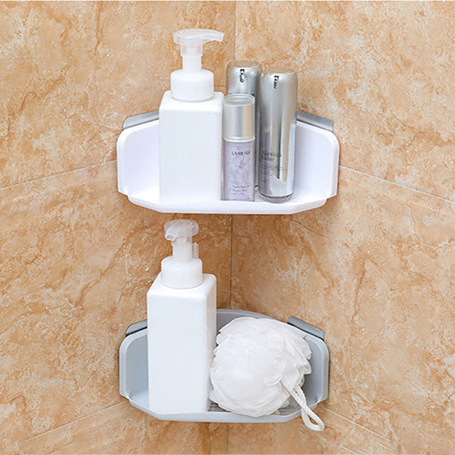 Plastic Suction Cup Bathroom Kitchen Corner