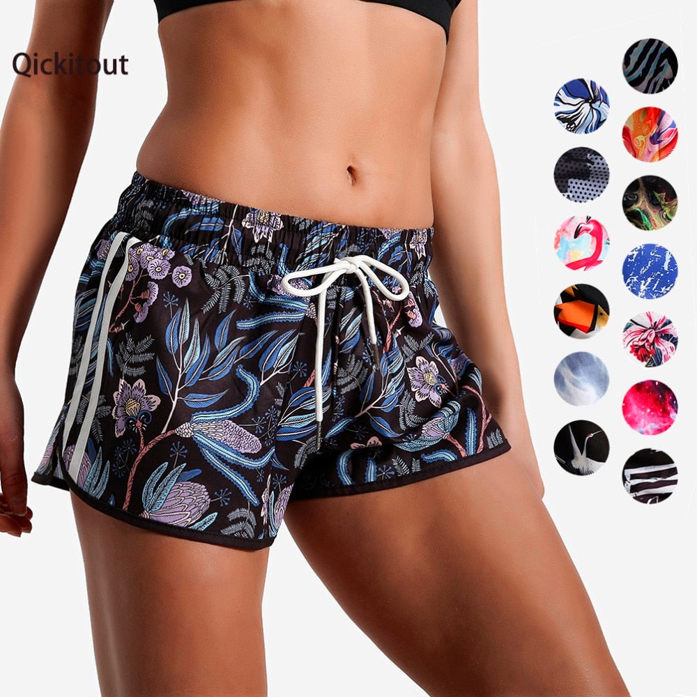 Fashion Color elastic casual shorts women Sportswear- Lootdash