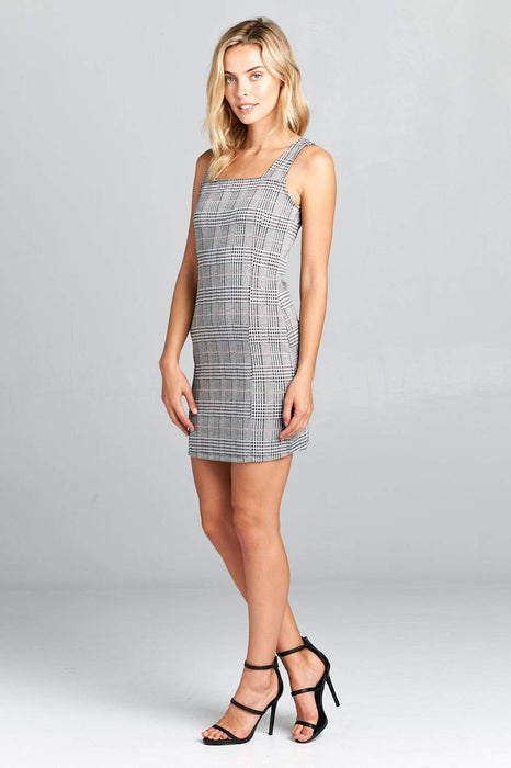 TANK BODYCON PLAID DRESS