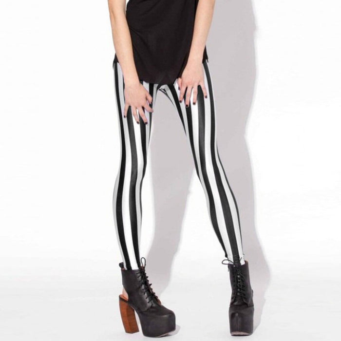 Running Pants Fashion High Waist Breathable Pant Stretch Stripes Printing Legging Fitness Legging Workout Leggings Jeggings LootDash