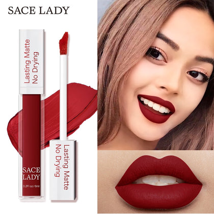 SACE LADY Matte Lipstick Makeup 23 Color Long Lasting Liquid Lip Stick LootDash