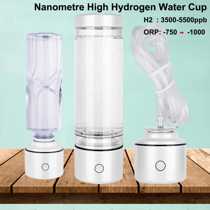 SPE/PEM Nanometer Hydrogen Rich Generator Water Ionizer Bottle 5500PPB Portable Multifunction H2 Generator IHOOOH Manufacturer|Water Filters