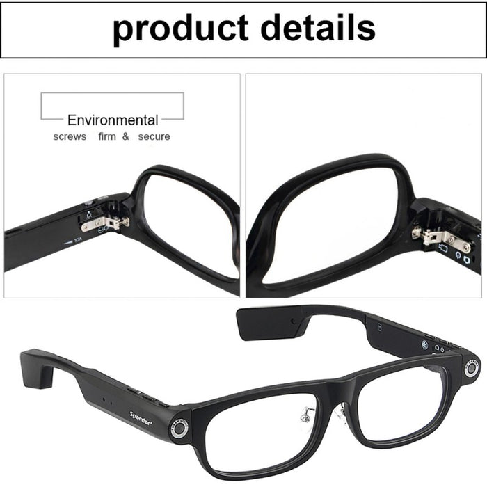 Smart Bluetooth Glasses 8gb with Bluetooth 4.0 and Hands Free Call HD 1080P Camera Recorder Video GPS Navigation Remind LootDash