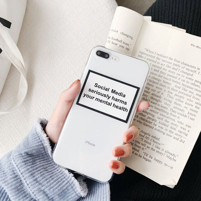 Social Media seriously harms your mental health Soft Phone Case LootDash