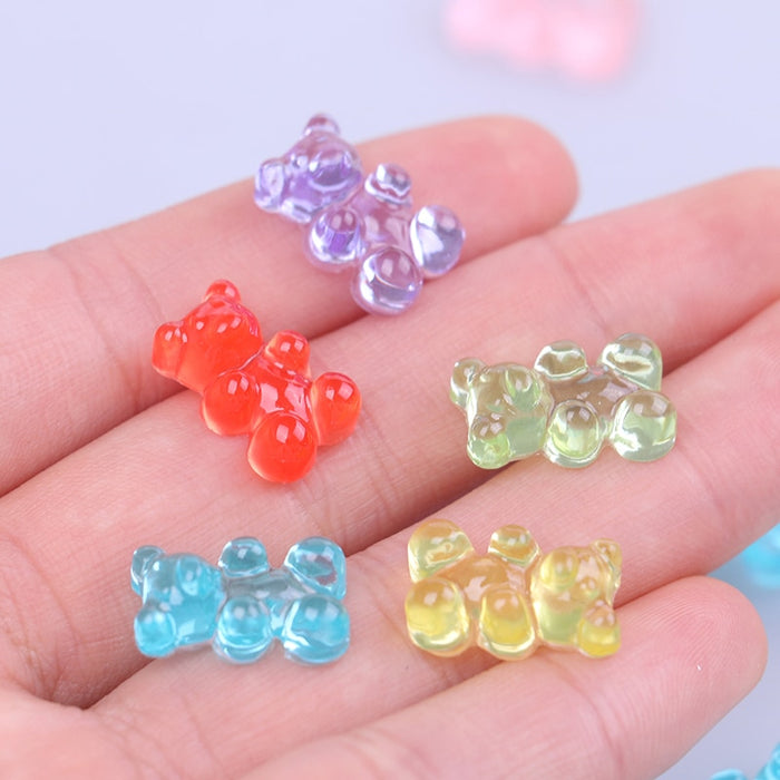Sprinkles Mini Bear Candy Polymer Slime Box Toy For Children Resin Charms Lizun Modeling Clay DIY Kit Accessories Kids Gift LootDash