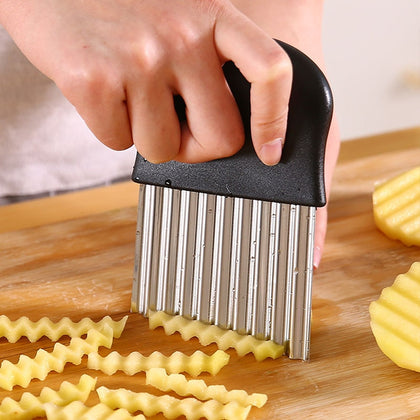 Stainless Steel Potato Chip Wavy Cutter- LootDash