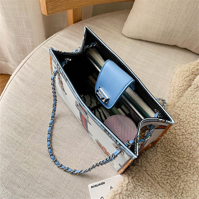 TOYOOSKY Women Bag 2019 New Printed Shoulder Bags Fashion Large Capacity Travel Crossbody Bags Women Brand Luxury Chain Handbags|Shoulder Bags