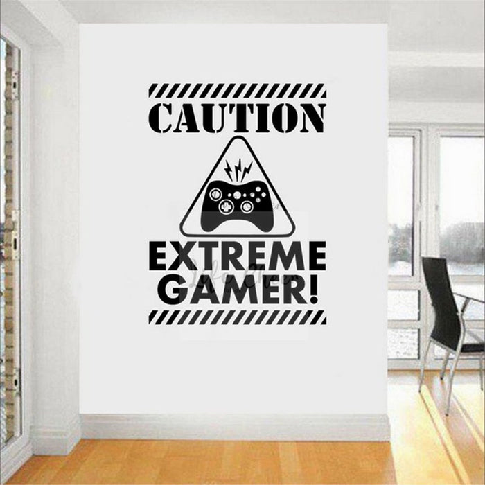 Teen Boys Playroom Decoration Gamer Sign Vinyl Wall Decal Video Games Conner Wall Sticker Removable Games Player Murals AC115|Wall Stickers