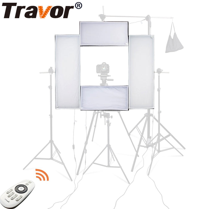 Travor 4 in 1 Headshot LED studio light 100W 5500K CRI95 video light with 2.4G Wireless Remote control photography lighting|Photographic Lighting