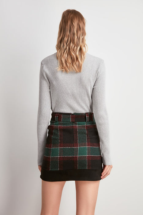 Flannel Skirt With Belt LootDash
