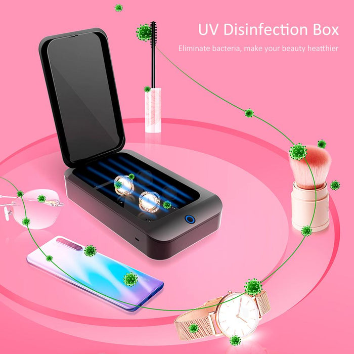 UV Sterilizer Box For Cell Phone Cleaner Hand Sanitizer Disinfection Box Ultraviolet Light Sterilizer Box For Home Cleaning|All-Purpose Cleaner| LootDash