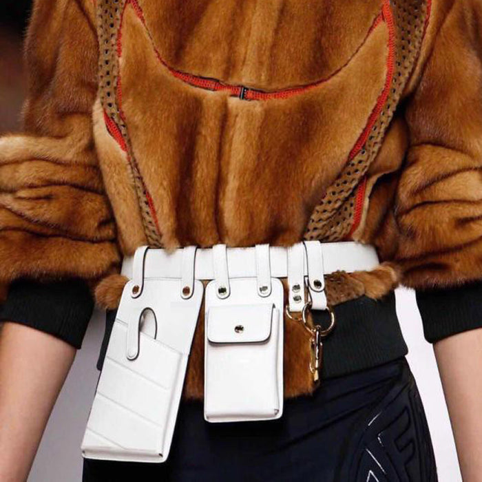 Women Waist Bag Fashion Leather Waist Belt Bag Crossbody Chest Bags Girl Fanny Pack Small  Phone Pack shoulder strap Packs LootDash
