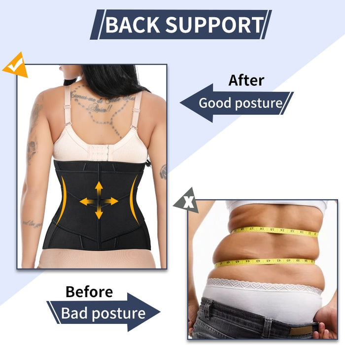 Women Waist Trainer Neoprene Slimming Belt Weight Loss Cincher Body Shaper Tummy Control Strap Slimming Sweat Fat Burning Girdle LootDash