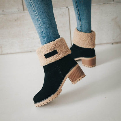 Women Winter Fur Warm Snow Boots Ladies Warm wool booties Boot Comfortable Shoes plus size 35 43 Women LootDash