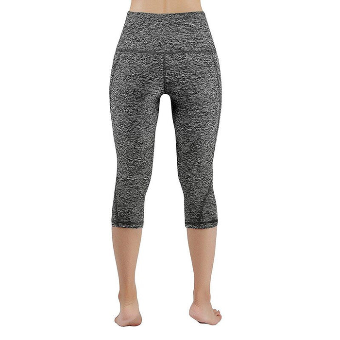 Womens Fashion Leggings 3/4 Pants Female Capri Casual Sporting Fitness High Waist Pants Side Pockets Design Sporting Trousers LootDash