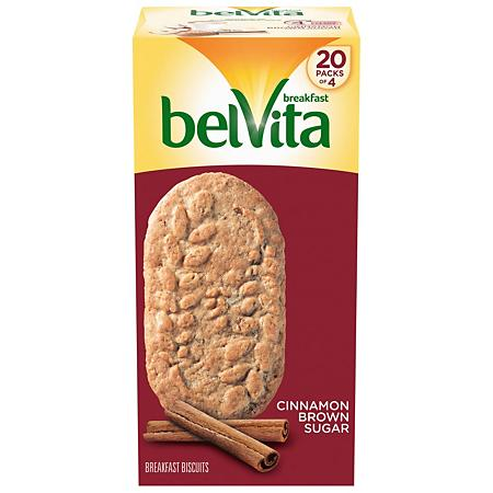 Belvita Cinnamon Brown Sugar Breakfast 5 Packs of 4 Cookies 2lb 12oz