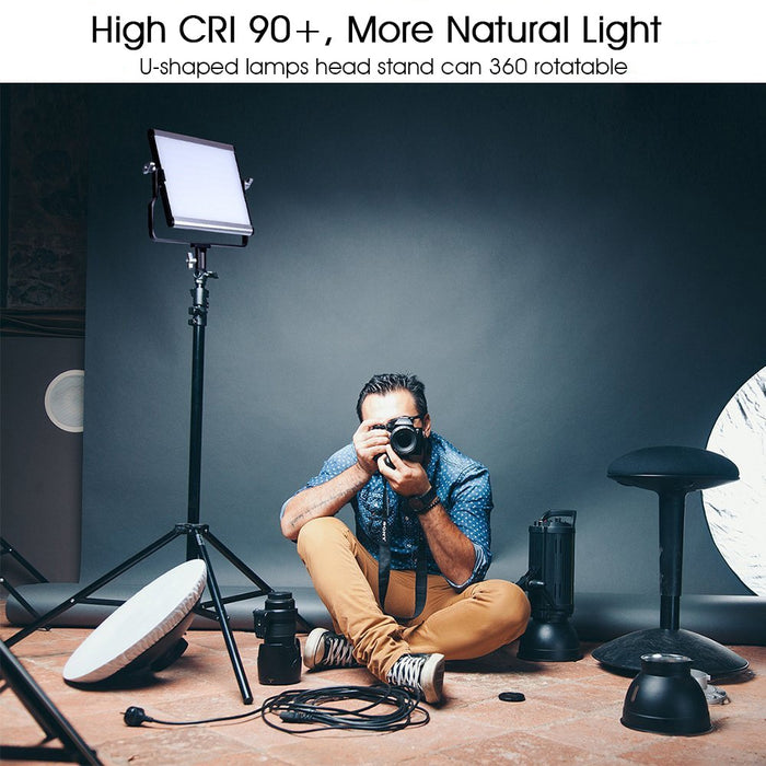 capsaver L4500 LED Video Light Kit Dimmable 3200K 5600K 15W CRI 95 Studio Photo Lamps Metal Panel with Tripod for Youtube Shoot|Photographic Lighting LootDash