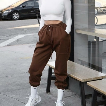 Korean Style Joggers Women Solid Color Loose Sweatpants 2020 New