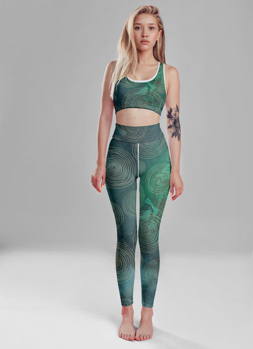 Green Boho Fitness Set