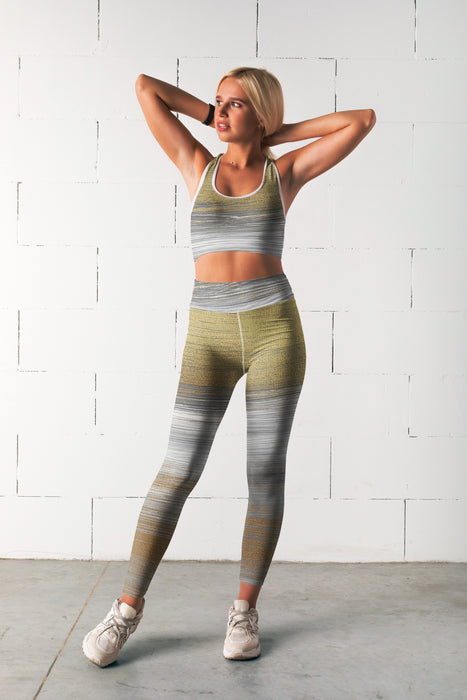 Silver Gold Abstract Fitness Set