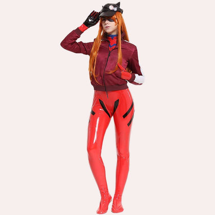Asuka Langley Sohryu Cosplay Costume Red Bodysuit