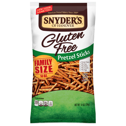 Snyder's of Hanover Gluten Free Pretzel Sticks Family Size, 14 Oz