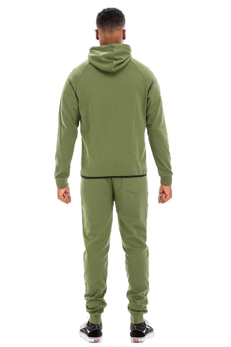 DYNAMIC SOLID SWEAT SET- OLIVE
