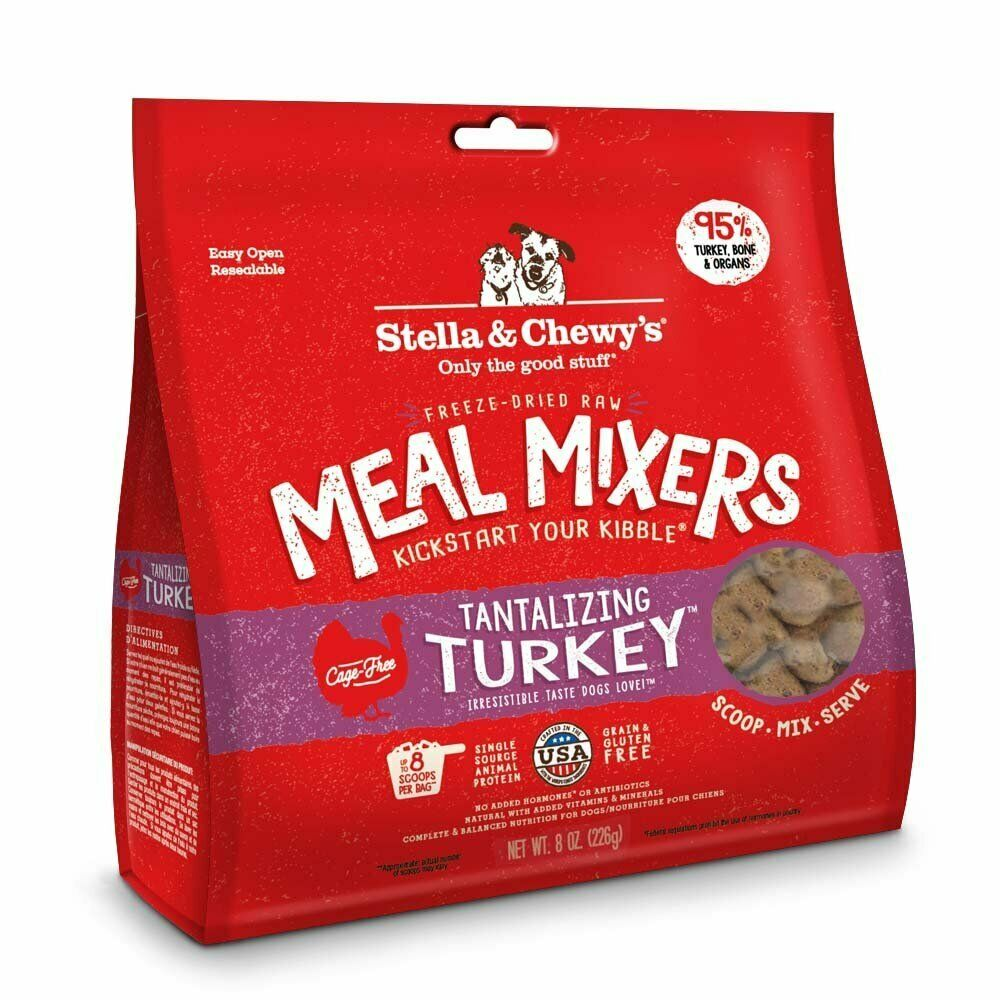 Stella and Chewy's Freeze-Dried Tantalizing Turkey Meal Mixers for Dogs 8 ounce