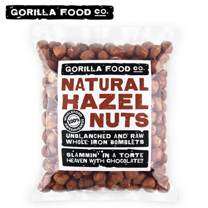 Gorilla Food Co. Natural Hazelnuts Whole Raw - 1Lb (Fast, Free Ship!)