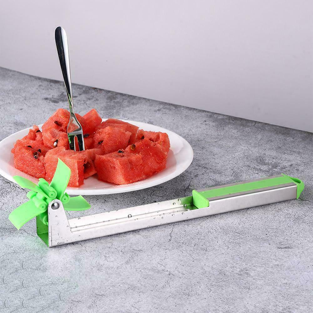 Watermelon Slicer Windmill Shape Cutter Stainless Steel Cutting Tool U.S.A