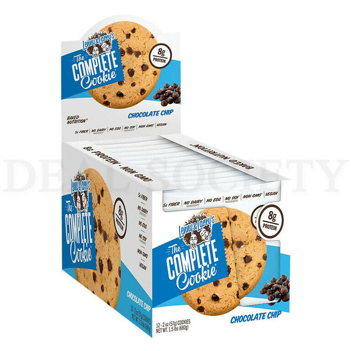 Lenny and Larry's Complete Cookie Chocolate Chip - 4 oz. 12 Count Box - Lot of 6